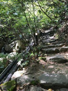 石ゴロゴロ階段